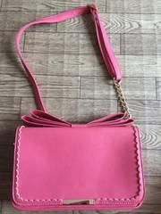 PRIME PATTERN ピンク色ショルダーバック