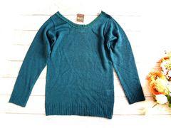 新品 GNO 緑 インディゴ 軽い  ニット セーター