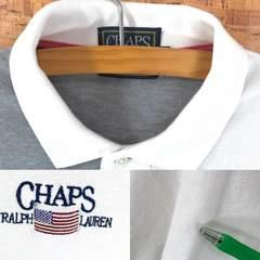星条旗刺繍 ♪ チャップス ラルフローレン 4パネル ポロシャツ L