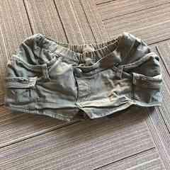 BACKS.カーキ色.パンツインスカート