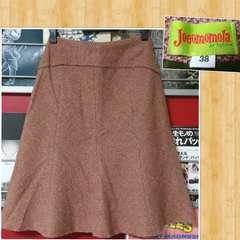 Jocomomola de Sybilla ホコモモラ デ シビラ ツイードスカート 38 美品 日本製