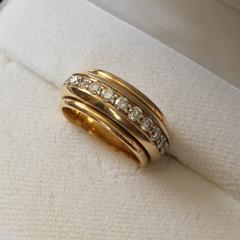 ジバンシー エタニティ リング 18KYG ダイヤモンド指輪 8号