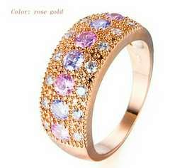 1円〜◆White powder PINK Gold RING11号