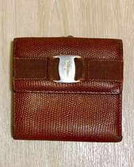 サルバトーレフェラガモ二つ折り財布ウォレットがま口財布