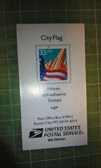 アメリカ33c切手帳(国旗$4.95)♪