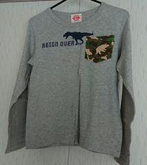 恐竜のロンT☆size140☆グレー