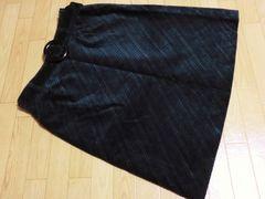 美品エンターテイナー/Enter Tawコーデュロイタイトスカート黒