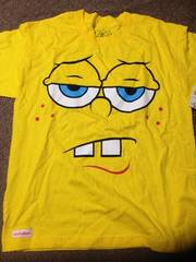 アメリカ購入スポンジボブ顔Tシャツ新品タグ付き