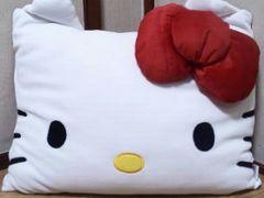 Hello kitty/ハローキティマシュマロスクエアクッション(新触感)50×40�p