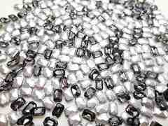 e15★4×6mm★長方形型ガラスストーン★ブラックダイヤモンド色★10粒