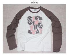 アディダス*adidas★ラグラン袖カットソーTシャツ(OTサイズ)新品〓大きいサイズ