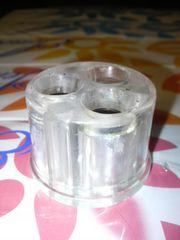 中古火消し穴×3消火透明クリアスケルトン灰皿たばこタバコ喫煙草シガレット送0