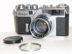 アンティーク ニコン NIKON SP 50mm F1.4 革ケース付