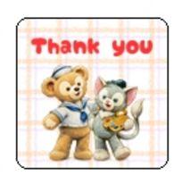 CL2-1/□型thank youシール☆ダッフィー5色《40枚》