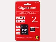 送料無料 即決 ギガストーン日本製 マイクロSD 2GB microSD SDリーダー