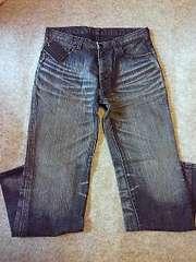 †2004発売†ナンバーナイン加工ブラックデニム501タイプ