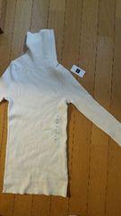新品!長袖セーター【Sサイズ・ホワイト/タグ付】
