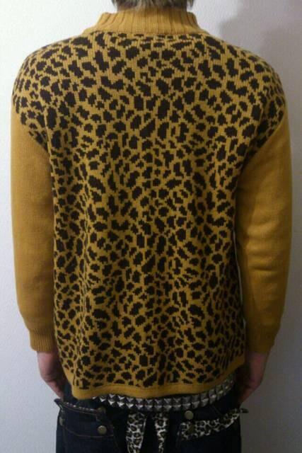 即決Fxxkレオパードセーター!パンクロックロカビリーサイコビリーペパーミントバンビーノ < 男性ファッションの