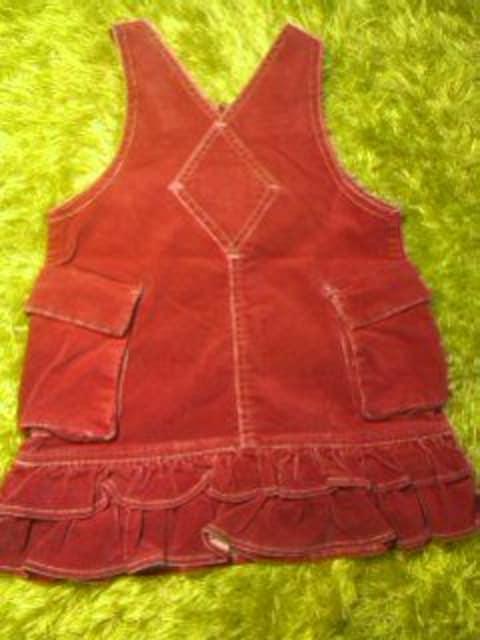 ●papp● ベロア生地ジャンパースカート 95 < キッズ/ベビーの