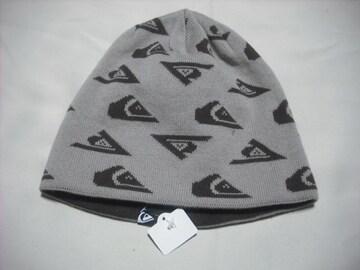 mb589 男 QUIKSILVER クイックシルバー リバーシブル ニット帽