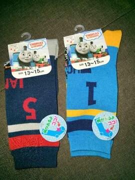 #新品#機関車トーマス2Pセット靴下13→15ハイソックス