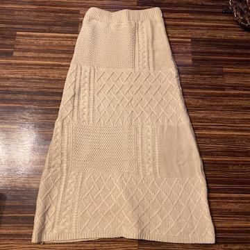 ニット ロングスカート