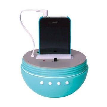 防滴仕様ドロップ型スピーカーDrop SpeakerブルーiPhone対応