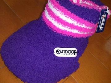 新品★アウトドア OUTDOOR ニット帽 キャップ 帽子 紫