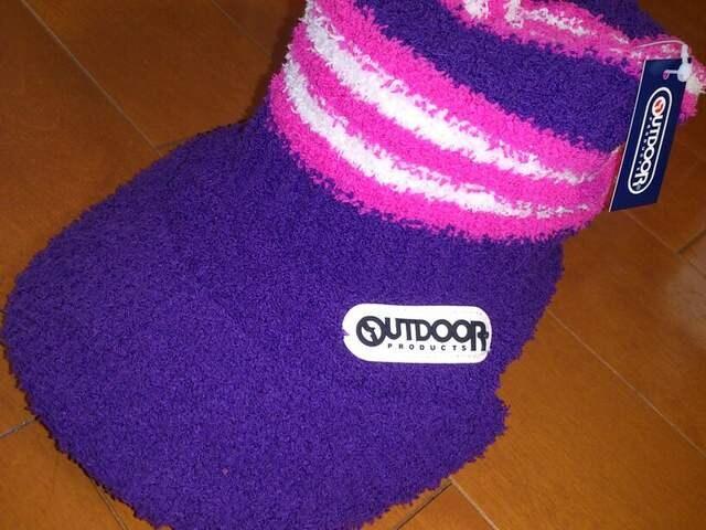 新品★アウトドア OUTDOOR ニット帽 キャップ 帽子 紫  < 女性ファッションの