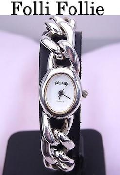 【即買い】フォリフォリ SILVER ブレスレット クォーツ時計 新品仕上げ済★dot