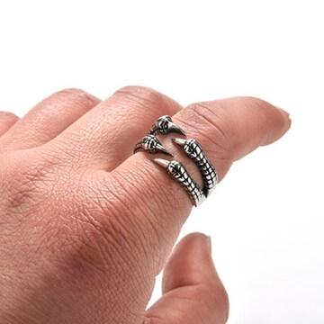 新品[7846]獣爪リング/デビル指輪/アンティークシルバー