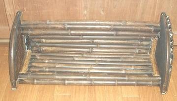 古民家に!竹製本棚ハンドメイドです。