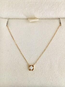 AHKAH アーカー ダイヤモンド ロゼーフラワー ネックレス K18YG