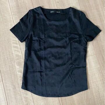 新品今季シンプル黒トップスF半袖Tシャツ日本製