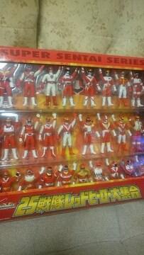 開封(未使用) 25戦隊レッドヒーロー大集合 ソフビ フィギュアBOX 2001送料込