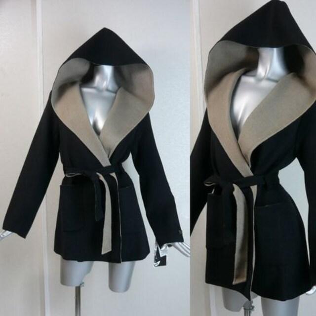 フーデットガウンコート★ハンドメイド【新品★M】  < 女性ファッションの