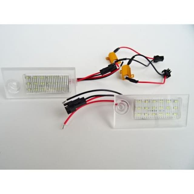 アウディ AUDI A6 C5 97-04y 専用設計キャンセラー内蔵LEDナンバー灯 < 自動車/バイク