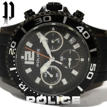 良品 1スタ★ポリス/POLICE【クロノグラフ】メンズ腕時計
