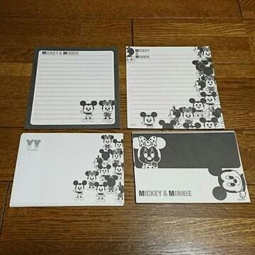 ミッキー&ミニー/モノクロレターセット/白黒/ディズニー