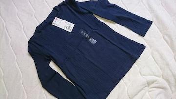 new#UNIQLO kids#girl#リブ長袖Tシャツ ロンT#ミドルネックトップス#120cm
