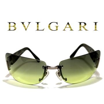 極美品 1スタ★ブルガリ/BVLGARI【イタリア】イカついサングラス