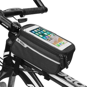 自転車 フレームバッグ トップチューブバッグ Black