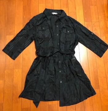 ロング丈☆黒シャツ