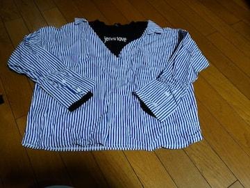 JN-カットソーシャツ長袖160ブルー