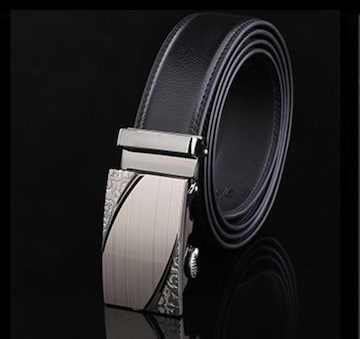 オートロック式 本革高級ベルト 110cm〜125cm 長さ選択 11