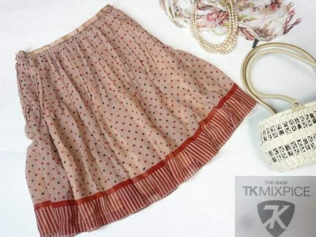 【新品★ Sサイズ 】ワールドのプリントスカート★送料180円  < 女性ファッションの
