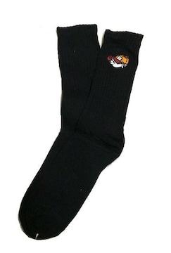 セール新品送込SHOCKショック★ダンスストリートスケーターブラックソックス★靴下フリーサイズ