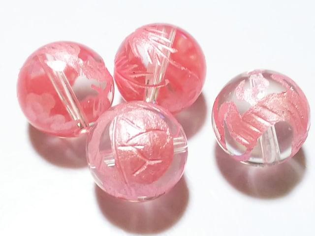 天然石★水晶 (ピンク彫り) 四神 14mm  < 女性アクセサリー/時計の