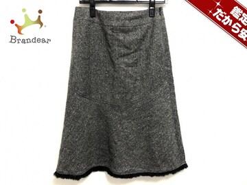 EPOCA(エポカ) スカート40 レディース美品  黒×白 裾ファー