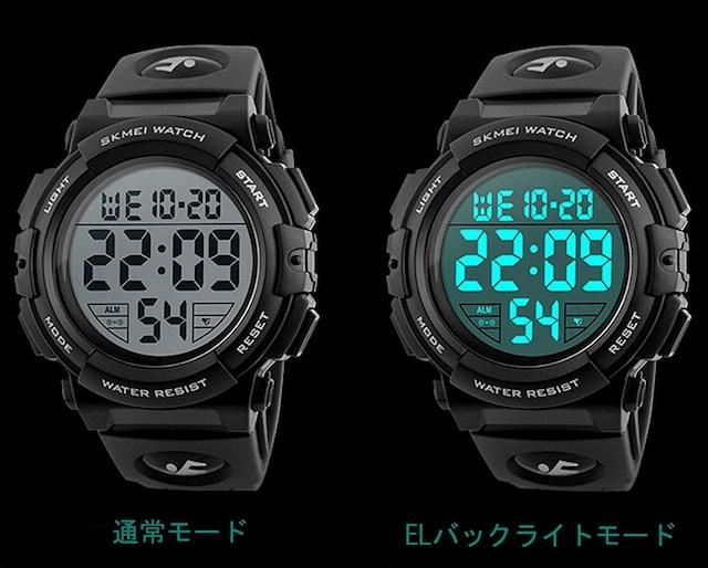 デジタル腕時計 メンズ 防水腕時計 led watch スポーツウォッチ